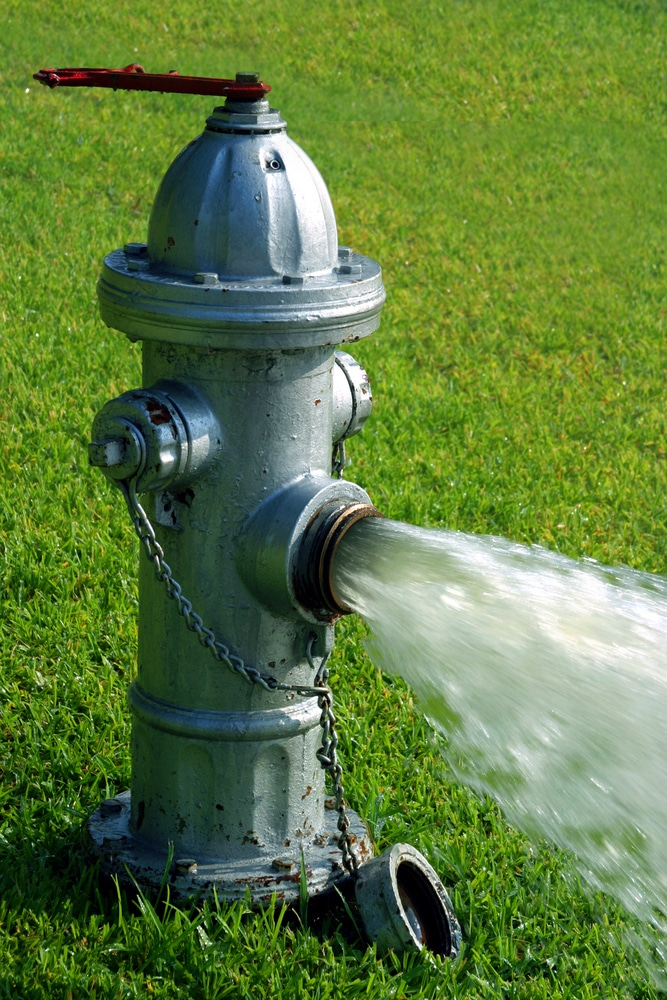 fire hydrant flushing water