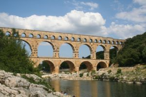 Remains of part of the famed Roman aqueducts