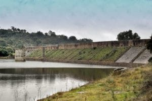 The Cornalvo Dam, a Roman gravity dam in built in the 1st or 2nd century AD, still supplies water to the people of Meriden, Spain.