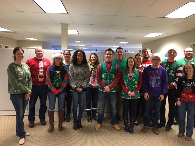 Christmas sweater day 2016