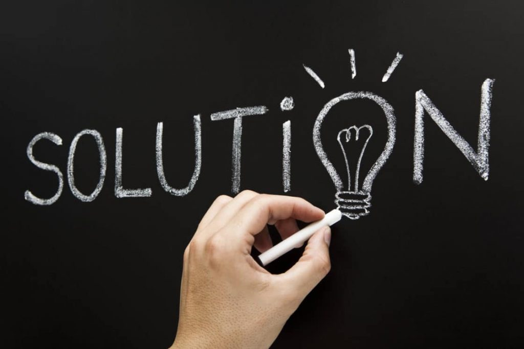 solution chalkboard concept