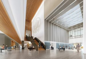 The atrium of Southeast Louisiana Veterans Health Care System