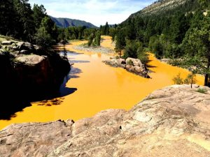Mine waste from the Gold King Mine spill. Source: Jerry McBride—Durango Herald