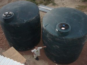 Jester King's rainwater collection tanks