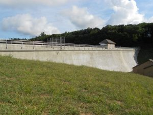 Means Brook Dam after rehabilitation, August 2015