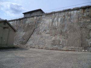 Means Brook Dam before rehabilitation, April 2011