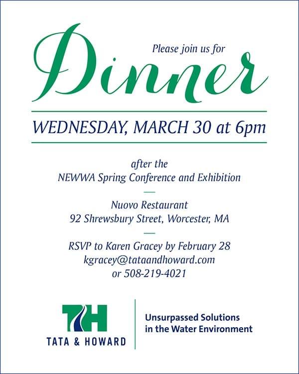NEWWA dinner invite