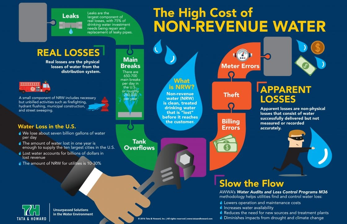 The High Cost Of Non Revenue Water Infographic