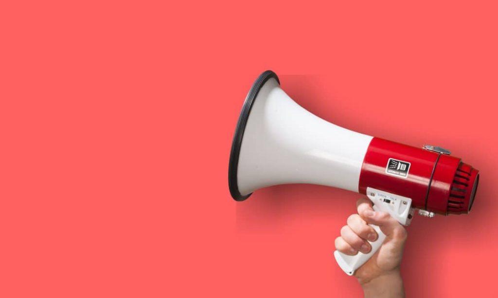 megaphone communicating news